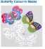 Crafty Packs Online with Charlie: Butterfly Colour-in Masks and Fish Wand: All Ages